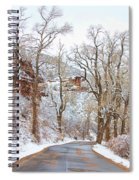 Snow Dusted Colorado Scenic Drive Spiral Notebook