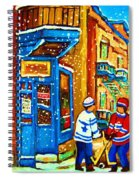 Snow Falling On The Game Spiral Notebook