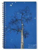 Snow Falling Where The Leaves Used To Be  Ethe  Spiral Notebook