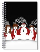 Snow Family 2 Square Spiral Notebook