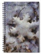 Snow Flake Enjoy The Beauty Photo Art Spiral Notebook