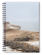 Snow Fog At Whitefish Point Spiral Notebook