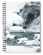 Snow Formations At Bottom Of Bond Falls Spiral Notebook