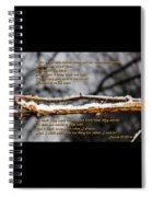 Snow From Heaven Spiral Notebook