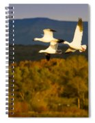 Snow Geese Flying In Fall Spiral Notebook