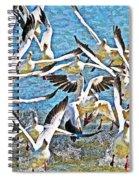 Snow Geese Panic Spiral Notebook