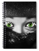 Snow Girl Square Spiral Notebook