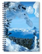 Snow Heart Spiral Notebook