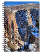 Snow In The Black Canyon Spiral Notebook