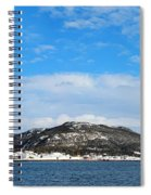 Snow In The Harbour Spiral Notebook