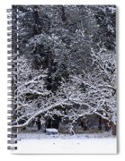 Snow In The Valley Spiral Notebook