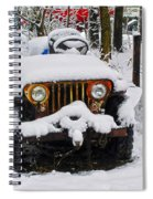 Snow Jeep Spiral Notebook