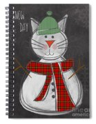 Snow Kitten Spiral Notebook