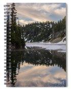 Snow Lake Last Fog Spiral Notebook