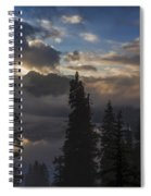 Snow Lake Sunset Spiral Notebook