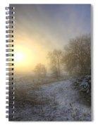 Snow Landscape Sunrise Spiral Notebook