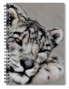 Snow Leopard Digital Art Spiral Notebook