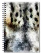Snow Leopard Eyes Spiral Notebook