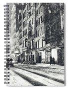 Snow - New York City - Winter Night Spiral Notebook