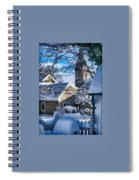 Snow On Back Alley - Shepherdstown Spiral Notebook