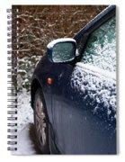 Snow On Car Spiral Notebook