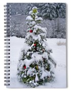 Snow On Christmas Tree 2 Spiral Notebook