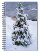 Snow On Christmas Tree Spiral Notebook