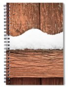 Snow On Fence Spiral Notebook