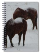 Snow On Horses Spiral Notebook