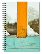Snow On Railings Spiral Notebook