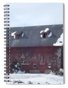 Snow On Roof Spiral Notebook