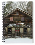 Snow On The General Store Spiral Notebook