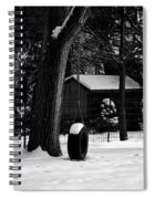 Snow On Tire Swing Spiral Notebook