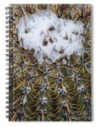 Snow On Top Of Small Saguaro Cactus Spiral Notebook