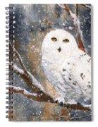 Snow Owl - Canada Spiral Notebook