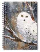 Snow Owl - Canada Spiral Notebook