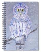 Snow Owl Spiral Notebook