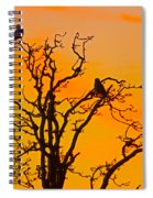Snow Owl Silhouette Spiral Notebook