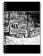 Snow Plow In Black And White Spiral Notebook