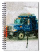 Snow Plow Painterly Spiral Notebook