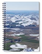 Snow Remnants On The Palouse Spiral Notebook