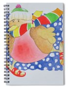 Snow Robin Spiral Notebook
