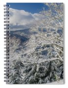 Snow Scene At Berry Summit Spiral Notebook