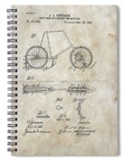 Snow Shoe Attachment For Bicycles Patent 1896 Spiral Notebook