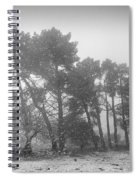 Snow Storm At The Mountains Spiral Notebook