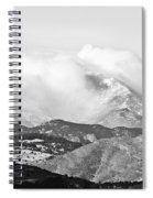 Snow Storm On The Twin Peaks Longs And Meeker Spiral Notebook