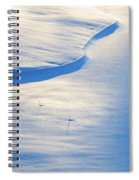 Snow Sunlight And Shadows Spiral Notebook