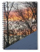 Snow Sunset Spiral Notebook