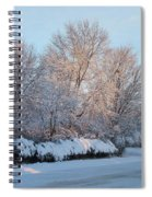 Snow Trees Sunrise 2-2-15 Spiral Notebook