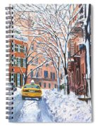 Snow West Village New York City Spiral Notebook